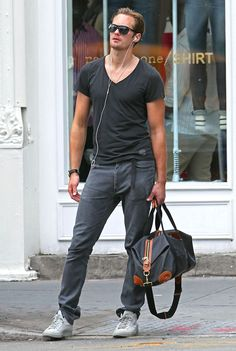 "Alexander Skarsgard - 6'4"" and skinny if he doesn't keep up his routine."