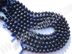 Sodalite Smooth Round (Quality A) (Pack of 2 Strands) /  9.5 to 10.5 mm / 41 to 45 Grms / 36 cm / SOD-037 by GemstoneWholesaler on Etsy
