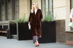 Шелковое бархатное пальто-халат Husky Wear