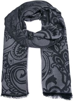 $187, Etro Paisley Woven Scarf. Sold by farfetch.com. Click for more info: https://lookastic.com/men/shop_items/388463/redirect