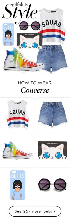 """""""off duty style"""" by heather-thompson-4 on Polyvore featuring Chicnova Fashion, T By Alexander Wang, Converse and Karl Lagerfeld"""