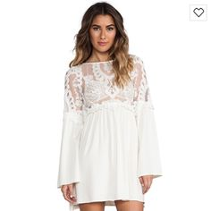 For Love & Lemons Isabella dress ivory Brand new with tags! Sold out since 2012 FL&L Isabella dress in ivory. It is a true ivory, not white. For Love and Lemons Dresses Mini
