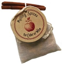 Mulling Spices Sachet - Gift, fall or winter wedding favor                                                                                                                                                                                 More
