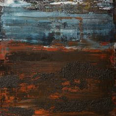 """Saatchi Online Artist: Koen Lybaert; Oil 2013 Painting """"abstract N° 684 [Coal III]"""""""