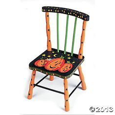 painted christmas theme chairs | Jack-O'-Lantern Chair, Decorative Accessories, Home Decor - Terry's ...