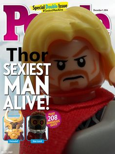 """""""Thor voted People Magazine's Sexiest Man Alive. Lego-Loki: WHERE AM I ON THE LIST? MIDGARD WILL PAY FOR THIS INSULT!"""""""