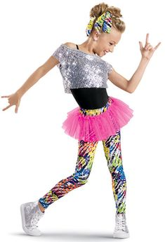 Sequin Tee with Print Leggings -Weissman Costumes