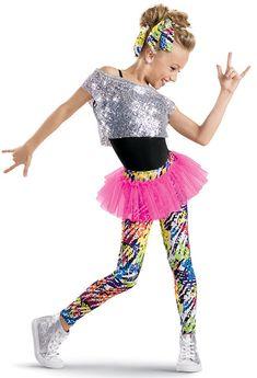 Junior Hip Hop 3 - Sequin Tee with Print Leggings -Weissman Costumes