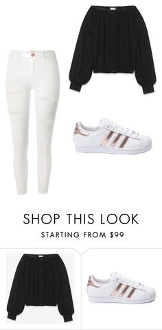 """Contest"" by i-will-slay-you ❤ liked on Polyvore featuring Yves Saint Laurent, adidas and River Island"