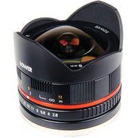 Bower 8mm f/2.8 Ultra Compact Fisheye Lens for Fujifilm X Mount (Black)
