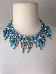 Mimi di N-1960's Blue Glass and Crystal by TheVintageSavant