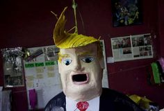 A pinata depicting U.S. Republican presidential candidate Donald Trump hangs outsid. Days after billionaire Trump accused Mexico of sending criminals to live in the United States, a Mexican artisan has given angry Mexicans an outlet-- a Trump pinata they can stuff with candy and beat with a sREUTERS/Daniel Becerril  - RTX1HZH9