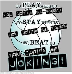 Play With Us You Gotta Be Great Beat Us You Gotta Be Joking Volleyball T-Shirt #Gildan
