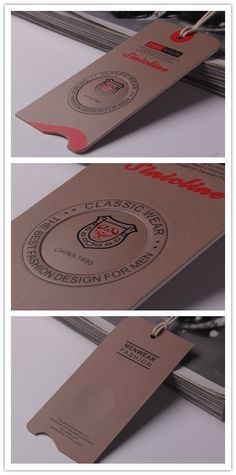 Sinicline hang tag design, can be customized with your brand logo. Swing Tag Design, Label Tag, Swing Tags, Emblem, Clothing Tags, Sewing Leather, Printed Materials, T Shirts With Sayings, Business Design