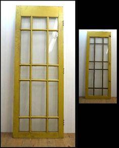 Door 【蔵人】イギリスアンティークドアガラスドア建具扉格子 インテリア 雑貨 家具 Antique ¥15000yen 〆06月25日