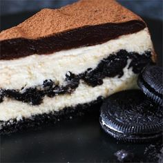 "Chocolate Cookie Cheesecake I ""Wow! What a great dessert! This is one of the most delicious, rich, and decadent desserts I have ever eaten!!"""