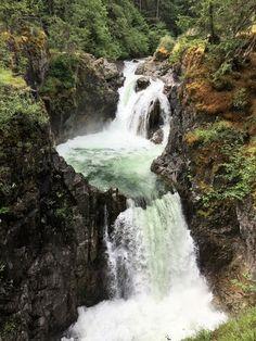 Waterfalls on Vancouver Island - Little Qualicum River Regional Park Victoria Island, Visit Victoria, Vancouver Island, Island Life, Beautiful Islands, British Columbia, The Neighbourhood, Things To Do, Regional