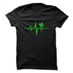 Pulse Green, Go Vegan, Save Earth, Wave, Heartbeat - shirt #long sleeve t shirts #long sleeve tee shirts