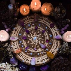 Farmhouse Inspiration wheel of the year laser etched altarYou can find Wicca and more on our website.Farmhouse Inspiration wheel of the year laser etched altar Yule, Wicca Witchcraft, Magick, Cristal Art, Modern Witch, Witch Aesthetic, Aesthetic Dark, Crystal Aesthetic, Sabbats