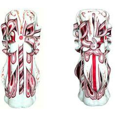 Bougie sculptée (25 cm),bougie artisanale,bougie fait main,bougie décorative