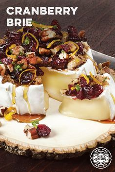 Dietz & Watson Cranberry Pecan Baked Brie—where savory brie cheese comes together with sweet flavors from honey, cranberries and brown sugar. A crowd pleaser at any holiday party!