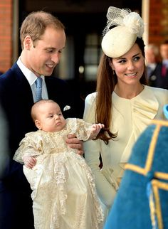 Kate Middleton and Prince William bring baby Prince George to his christening on Oct. 23 -- see a picture of the royal kid in his christenin...