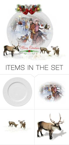 """Vintage Christmas✨ (winter plate contest)"" by califorina-girl ❤ liked on Polyvore featuring art and vintage"
