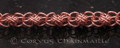 Awesome pattern! Full Persian Ladder top/bottom by Redcrow at Corvus Chainmaille, via Flickr