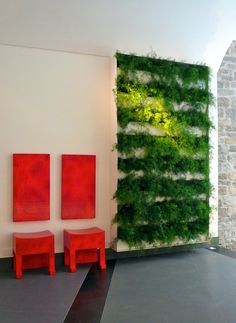 A Vertical Interior Garden in the GombitHotel – Contemporary Design In a Medieval City. Very creative!