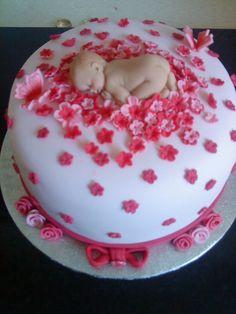 Baby Girl Shower Cake  on Cake Central