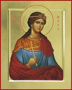 Icon of St. Musa of Rome - c. Catholic Art, Religious Art, Anastasia, St Maria, Elisabeth, Spiritual Guidance, Son Of God, Orthodox Icons, Christianity