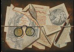 Michele Bracci (Italian), 18th Century  A trompe l'oeil with pince-nez