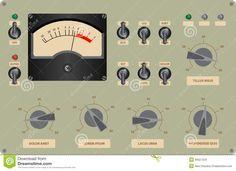 control panel printable | Panel De Control Ilustración del Vector - Imagen: 39027424