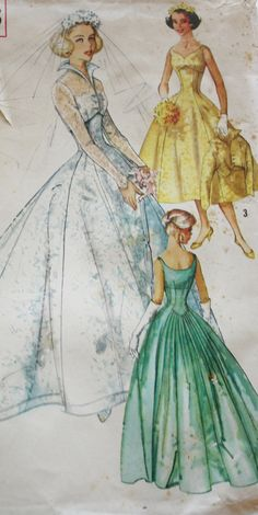 1960s Simplicity 2066 Misses' Bridal by BluetreeSewingStudio