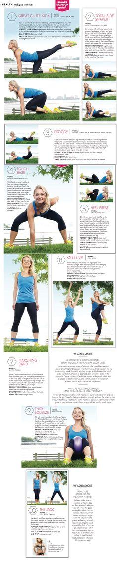 Celebrity trainer Simone De La Rue's most effective exercises for slim limbs