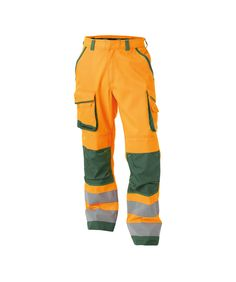 Chicago - High visibility work trousers with knee pockets: