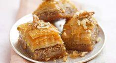 Baklava Easy Turkish Baklava Recipe, Phyllo Dough, Turkish Delight, Fish And Chips, Greek Recipes, Cakes And More, Baking Pans, Yummy Food, Treats