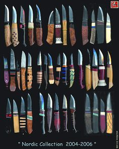 Nordic-collection of knives 2004-2006