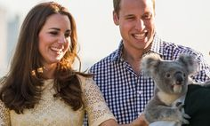 The Duke and Duchess giggle like school kids as they meet a koala at Taronga Zoo on April 20, 2014.