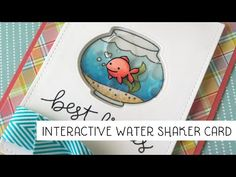 How to make a water-filled shaker card (Lawn Fawn Design Team, Yainea) 3d Cards, Pop Up Cards, Folded Cards, Spinner Card, Lawn Fawn Blog, Album Scrapbook, Stampin Up, Lawn Fawn Stamps, Interactive Cards