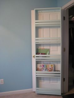 Closet door storage - awesome idea!