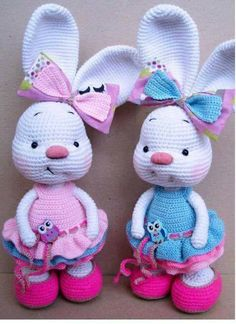 Cute Easter Bunny Crochet FREE Pattern