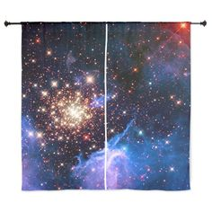 Outer Space Telescope Photographs Curtains on CafePress.com