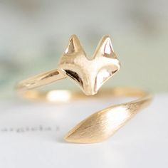 Gold fox ring