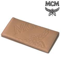 MCM(エムシーエム) 長財布 ブラウン レザー スナップボタン ロングウォレット【送料無料】 wal-mcm-030