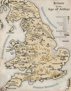 Image result for illustrated maps king arthur