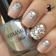 Swarovski Crystal Stud Nails by THECRAFTYNINJA H. | Fr. Beautylish.