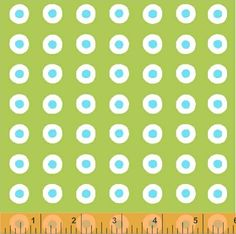 Fresh - Pop Dot in Green Apple from Windham Fabrics -- 1 Yard Green, white, and Aqua Dot Quilt Fabric