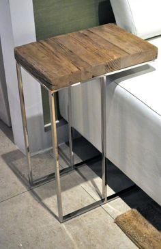 reclaimed wood - sidetable