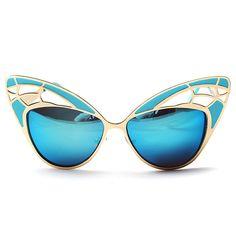 2017 Venta caliente de la manera diseñador de la marca en forma de mariposa hermosa hollow mujeres Gafas de Sol de Alta calidad de Las Señoras de La Vendimia gafas de Sol